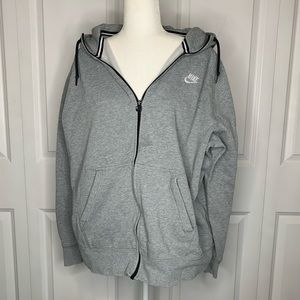 Gray Nike Zip up Jacket